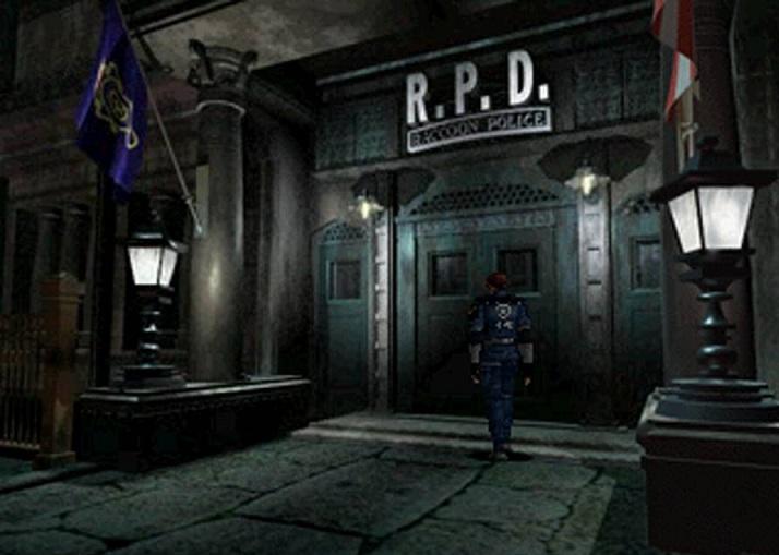 Resident evil 2 leon a punto de entrar en la comisaría
