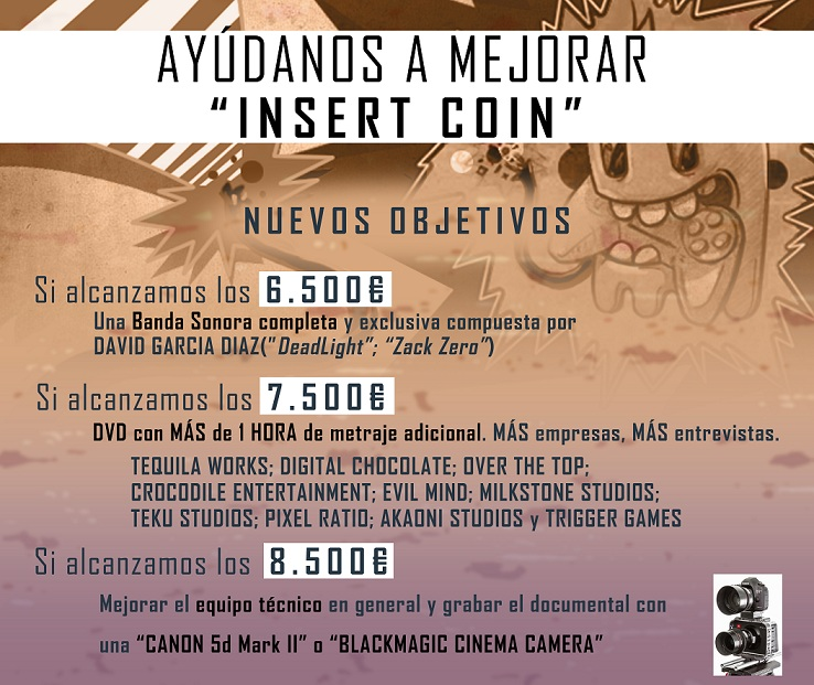 Proyecto Insert Coin documental sobre videojuegos